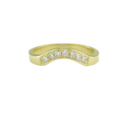 Diamond Rings 18ct. Yellow Gold Fitted Eternity Ring Set with 7 Diamonds