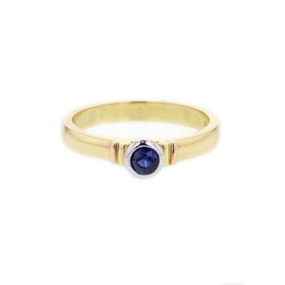 18ct. Yellow Gold Sapphire Ring