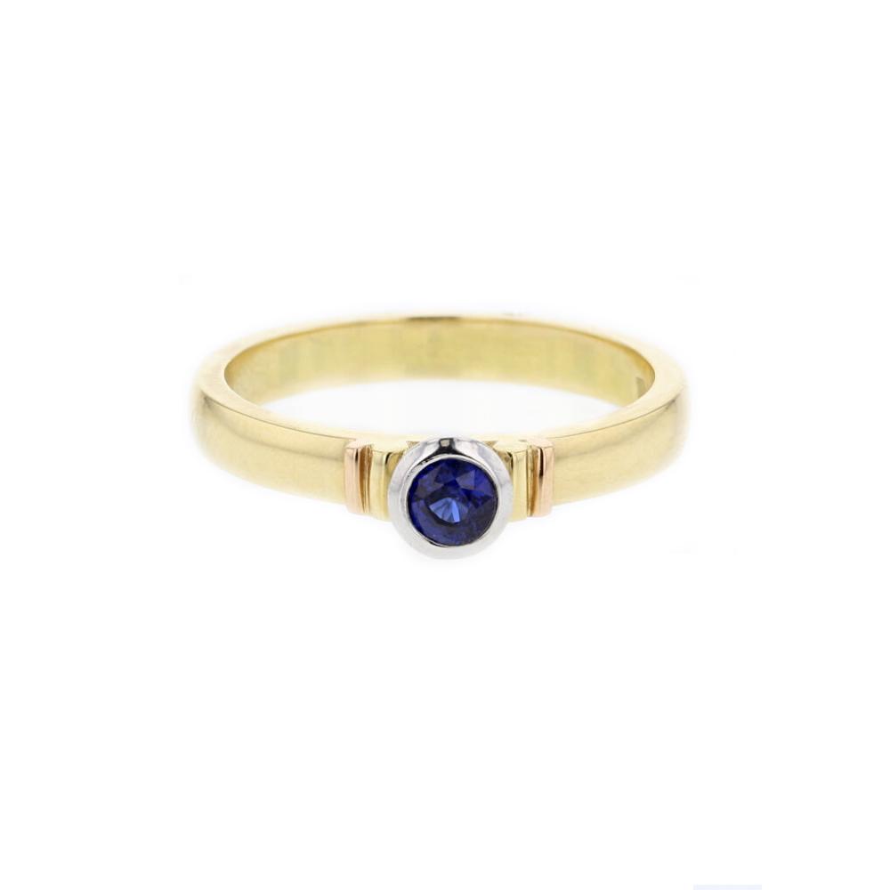 18ct. Yellow Gold Sapphire Ring