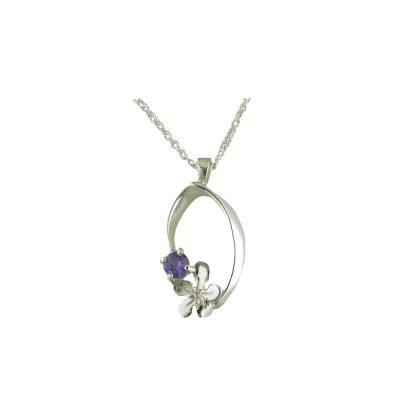 Burren Collection Sterling Silver Burren Pendant set with Amethyst