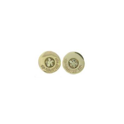 Burren Collection Burren Gold Round Earrings
