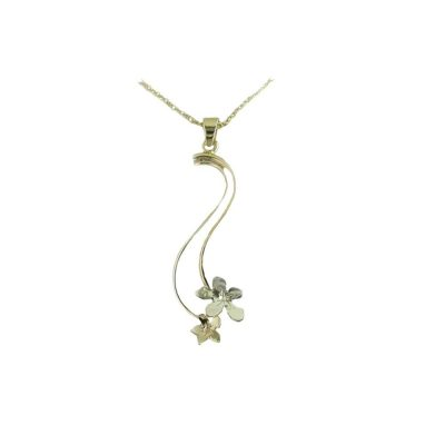 Burren Collection 9ct Gold Burren Flower Pendant