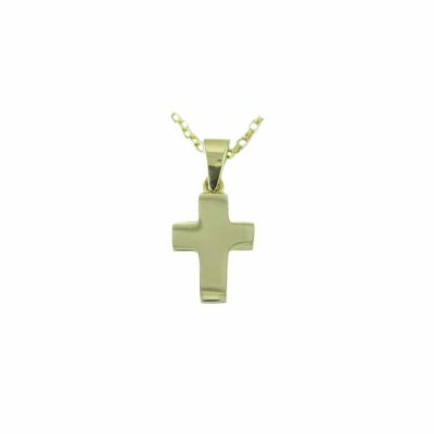 Gold Pendants 9ct. Yellow Gold Solid Cross