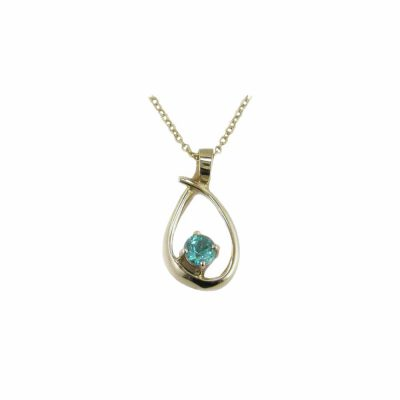 Gold Pendants 9ct. Yellow Gold Pendant with Apatite Stone
