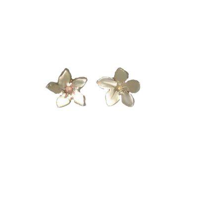 Burren Collection 9ct. Gold Gentian Burren Flower Earrings