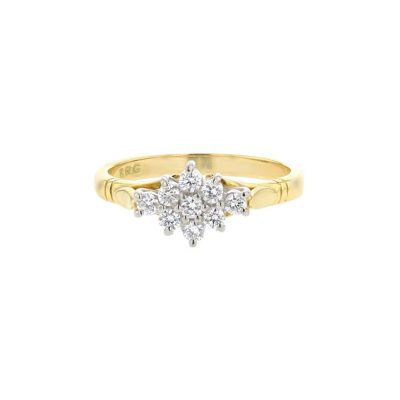 Diamond Rings 18ct. Gold Cluster Ring