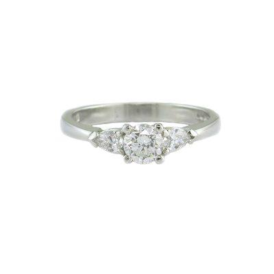 Diamond Rings 3 Stone Platinum Diamond Ring