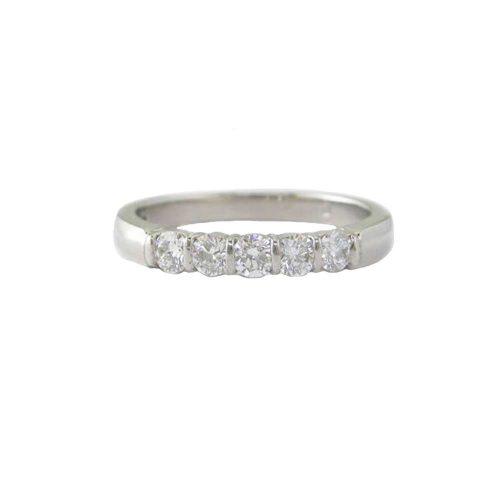 Diamond Rings Platinum Ring set with 5 Diamonds