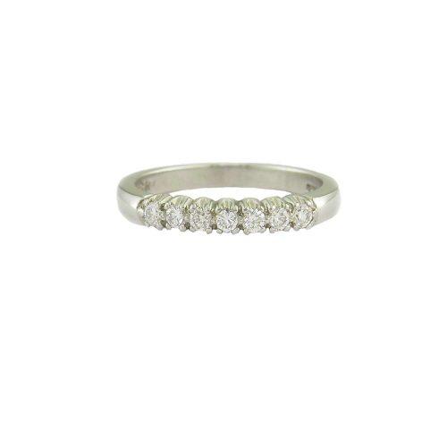 Diamond Rings Platinum Eternity Ring Set with 7 Diamonds