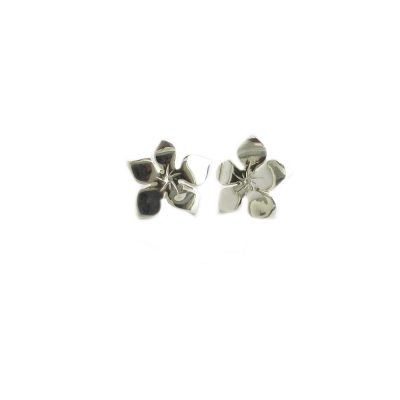 Burren Collection Sterling Silver Large Burren Flower Earrings