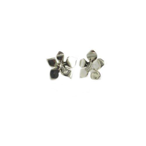 Burren Collection Sterling Silver Large Burren Flower Earrings