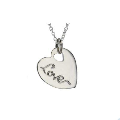Jewellery Sterling Silver Heart Pendant