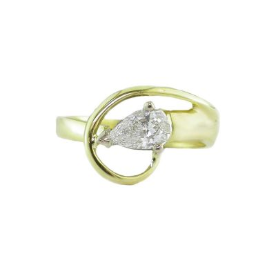 Diamond Rings 18ct. Yellow Gold Swirl Diamond Ring