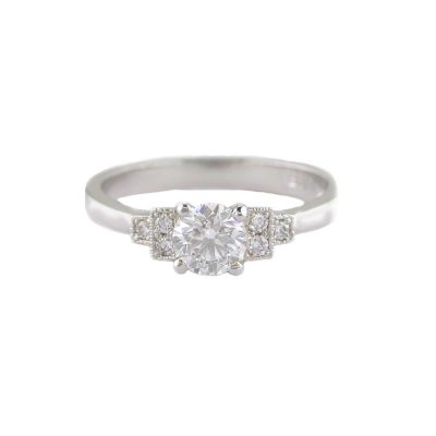 Diamond Rings Vintage Style Diamond Solitaire Ring