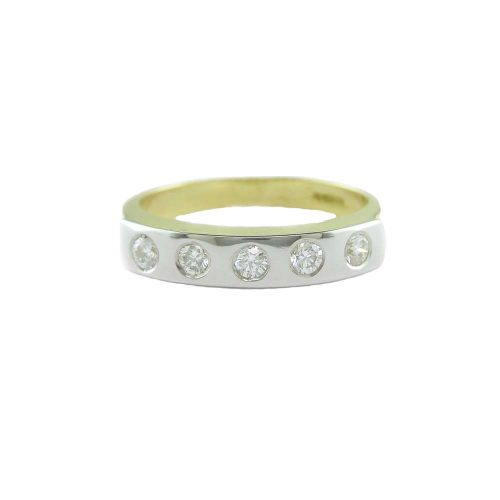 Diamond Rings 18ct. Gold Eternity Ring with Platinum Overlay