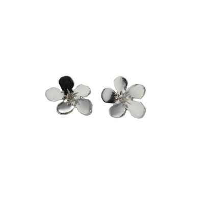 Burren Collection Sterling Silver Medium Burren Flower Earrings