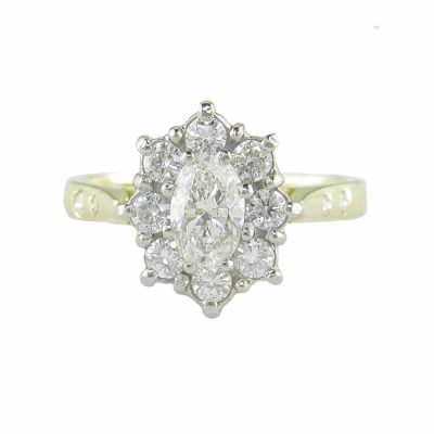 18ct. Gold Oval Cluster Ring
