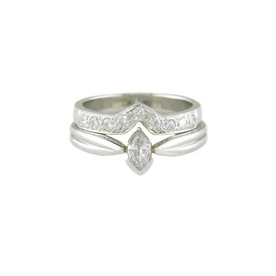 Diamond Rings Platinum Marquise Diamond Ring Set