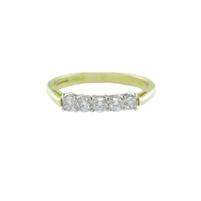 Diamond Rings 18ct. Gold Eternity Ring with 5 Diamonds