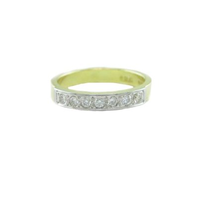 Eternity Rings 18ct. Yellow Gold Eternity Ring with Platinum Overlay