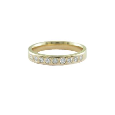 Eternity Rings 18ct. Red Gold Eternity Ring with 9 Diamonds