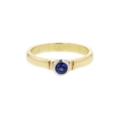 Dress Rings 18ct. Yellow Gold Sapphire Ring