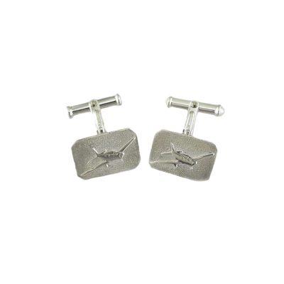 Gents Jewellery Sterling Silver Aeroplane Cufflinks