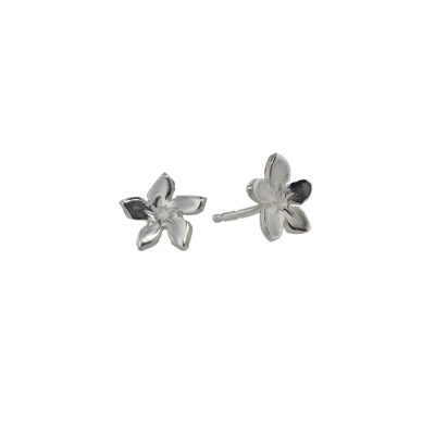 Burren Collection Sterling Silver Gentian Burren Flower Earrings