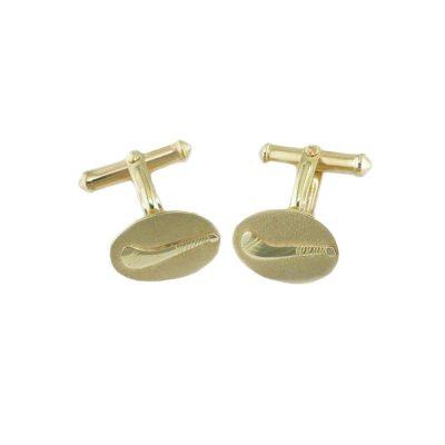 Gents Jewellery 9ct. Yellow Gold Hurley Cufflinks