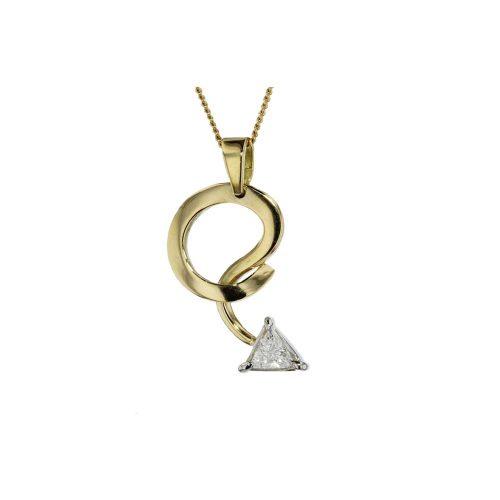 Gold Pendants 18ct Yellow Gold Pendant with 0.20ct Diamond