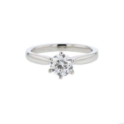 Diamond Rings Platinum Diamond Solitare Ring