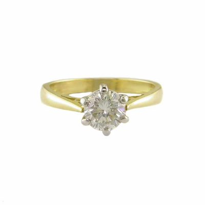 Diamond Rings 18ct. Yellow Gold Solitaire Diamond Ring