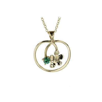 9ct. Gold Pendant with Burren Flower