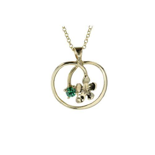 Burren Carousel 9ct. Gold Pendant with Burren Flower