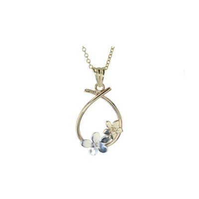 Burren Collection 9ct. Yellow Gold Forged Pear Shaped Pendant