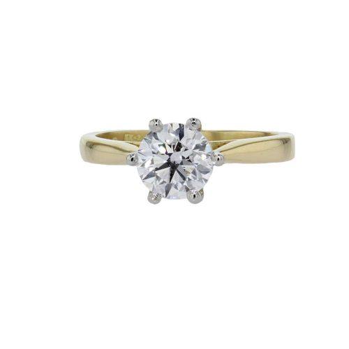 Diamond Rings 18ct Yellow Gold 1.04ct Solitaire Diamond Ring