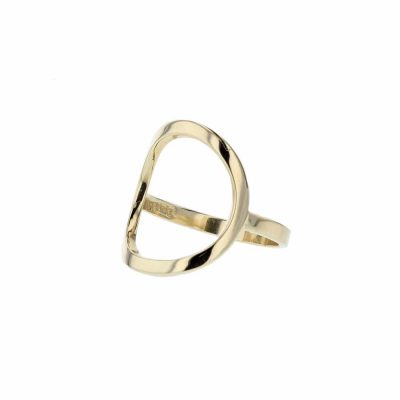 Dress Rings Open Oval 9ct. Gold Ring