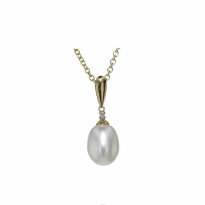 Gold Pendants 9ct Yellow Gold and Pearl Pendant