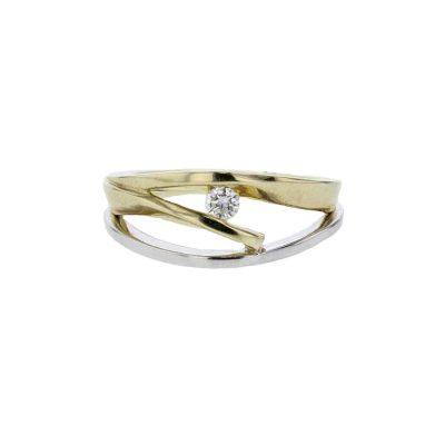 Dress Rings White & Yellow Gold Diamond Dress Ring