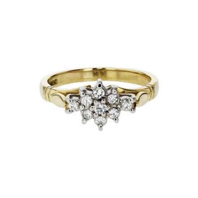 Diamond Rings 18ct. Yellow Gold Ring Diamond Cluster