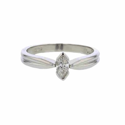Diamond Rings Platinum Ring, Marquise Cut Diamond