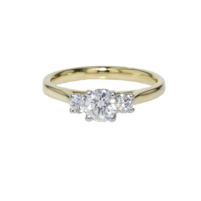 Diamond Rings 18ct. Yellow Gold Diamond Engagement Ring