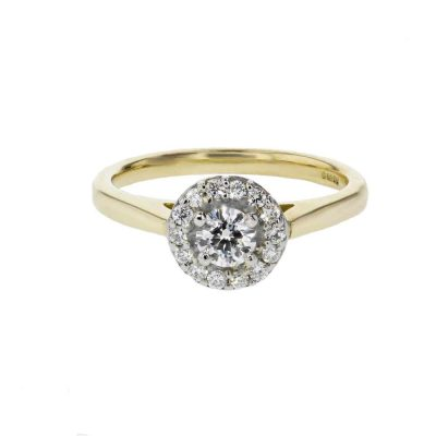 Diamond Rings 18ct. Yellow Gold Halo Cluster