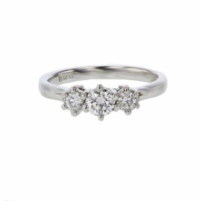 Diamond Rings 3 Stone Platinum Engagement Ring