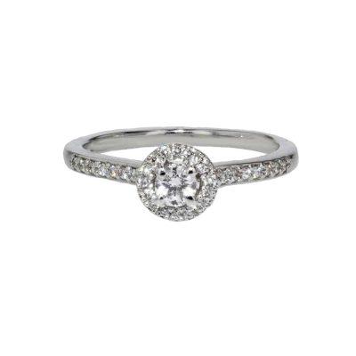 Diamond Rings 18ct. White Gold Diamond Cluster