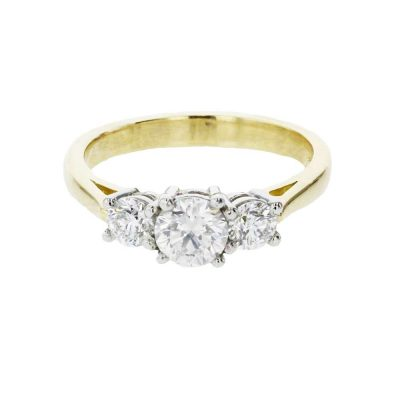 Diamond Rings 18ct. Yellow Gold, 3 Diamond Ring