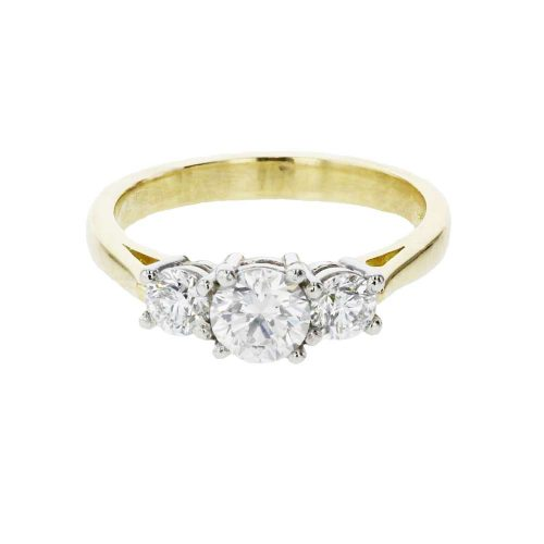 Diamond Rings 18ct. Yellow Gold, 3 Diamond Ring