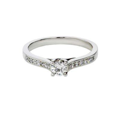 Diamond Rings Platinum Ring with Pavé set Diamonds