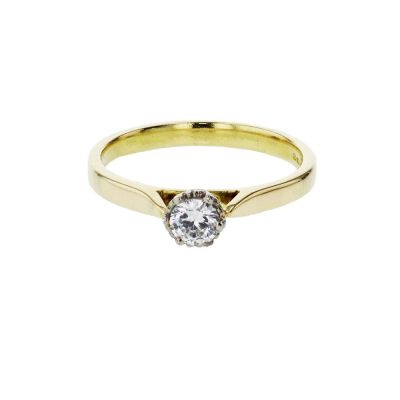 Diamond Rings 18ct. Yellow Gold Solitaire Engagement Ring