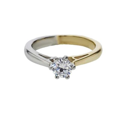 Diamond Rings 18ct. Yellow Gold and Platinum Engagement Ring